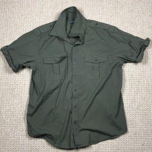 Men's Orvis short sleeved bush shirt size XL GREEN
